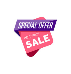Special offer isolated sticker vector