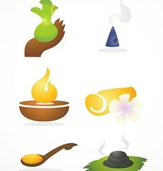 Thai spa icon vector
