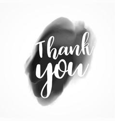 Thank you written on black ink splash background vector