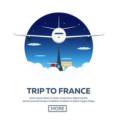 Trip to france travelling modern vector