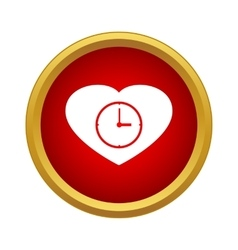 Watch heart icon simple style vector image