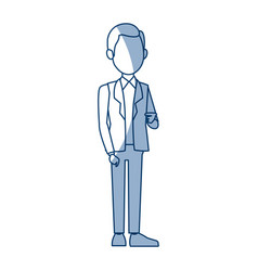 young businessman standing character pose vector image