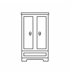 Wardrobe icon in outline style vector