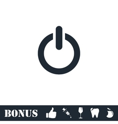 Power icon flat vector