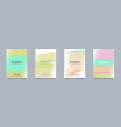 Set cards for congratulations and imvitation vector