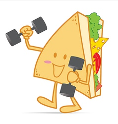 Exercise stronger cute sandwich vector