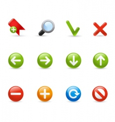 Gel icon set navigation vector