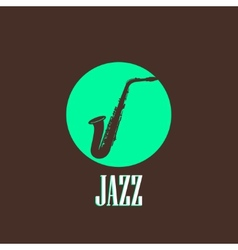 With a saxophone vector