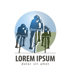 Cycling logo design template sports or vector