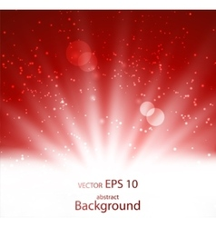 Bright beam of light in an abstract background vector