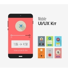 Flat ui or ux mobile apps kit vector