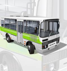 urban suburban mini-bus vector image