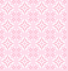Seamless texture with pink white abstract patterns vector