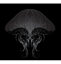 Silver jellyfish vector