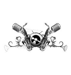 vintage music t-shirt design vector image