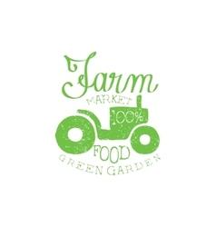 Green garden vintage emblem vector