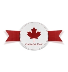 Canada day greeting red banner vector