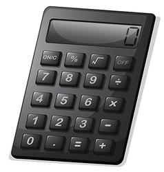 A gray calculator vector image vector image
