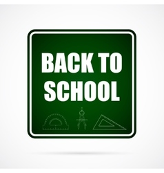 Back To School Typographical Background vector image