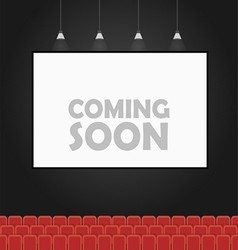 Coming soon theater banner concept vector image