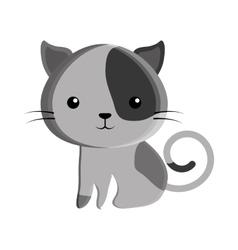 cute cat kawaii style vector image vector image