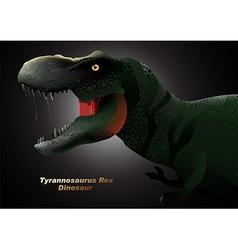 Dinosaur tyrannosaurus head vector