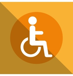 disabled zone vector image