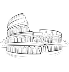 Drawing colosseum vector