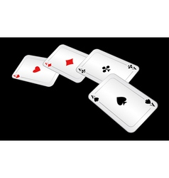 four playing cards vector image vector image