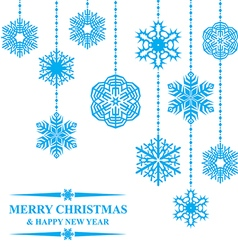 hanging snow card vector image vector image