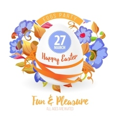 Happy easter flyer or poster background vector