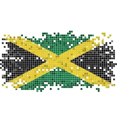 Jamaican grunge tile flag vector