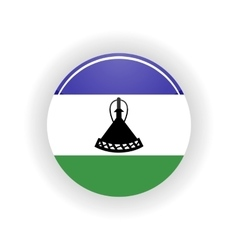Lesotho icon circle vector