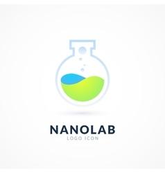 Nano lab logo template vector