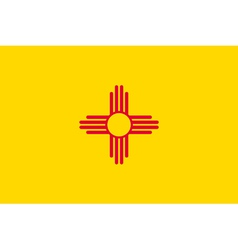 New mexican state flag vector