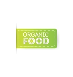 Organic food rubber stamp vector