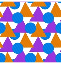Pattern of striped geometric shapes vector image