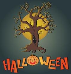Post card for happy halloween vector