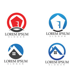 property house and home logos template vector image vector image