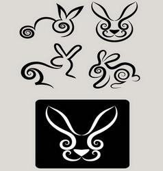 Rabbit symbols 1 vector image vector image