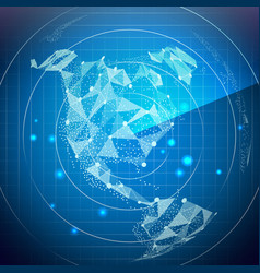 Radar screen north america digital screen vector