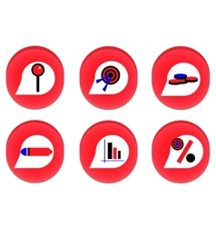 Red businness icon vector