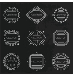 set of vignettes vector image