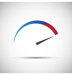 Simple thermometer tachometer speedometer icon vector