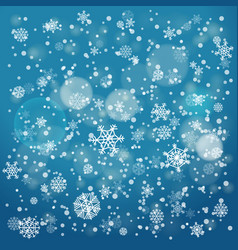 Snowfall in winter abstract background christmas vector