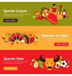 Spain banner set vector