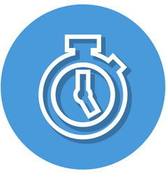 stopwatch in circle line icon vector image vector image