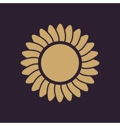 The sunshine icon Sunrise and sunshine weather vector image vector image
