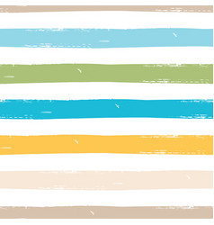 watercolor seamless pattern with stripes vector image