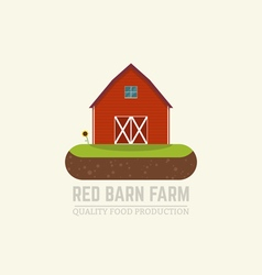 Farm red barn vector